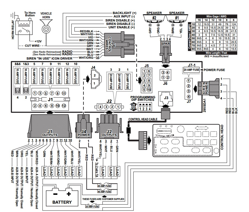 Whelen 295hfs4 Wiring Diagram Model Whelen P N 1 0664347