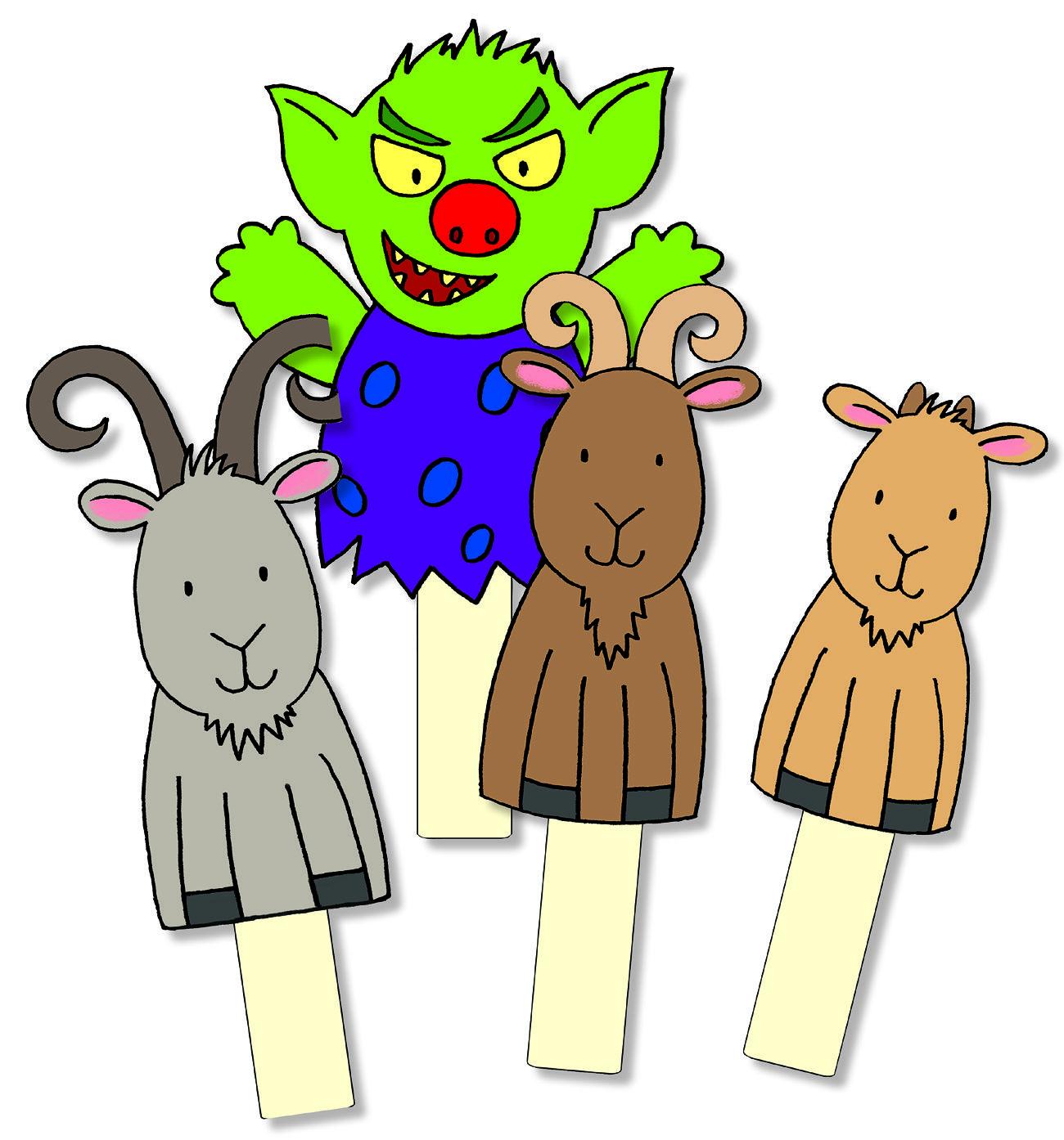 Billy Goats Gruff Storysticks