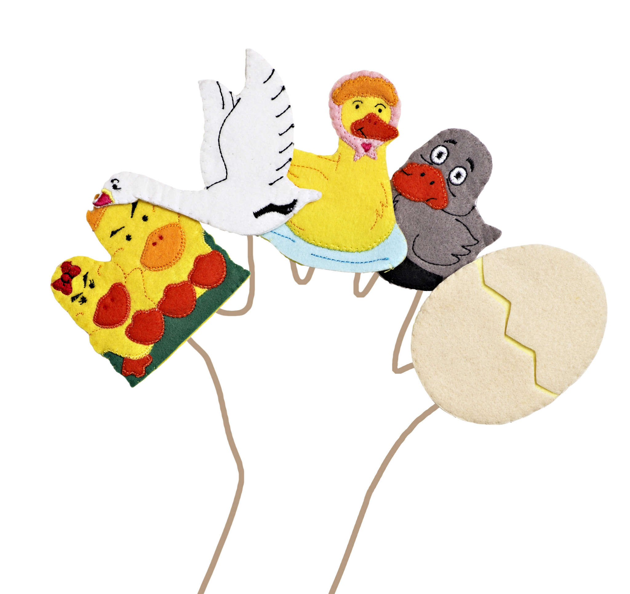 Ugly Duckling Finger Puppets
