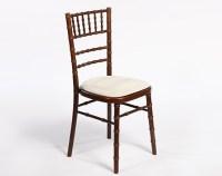Dark Wood Mahogany Chiavari Chair hire