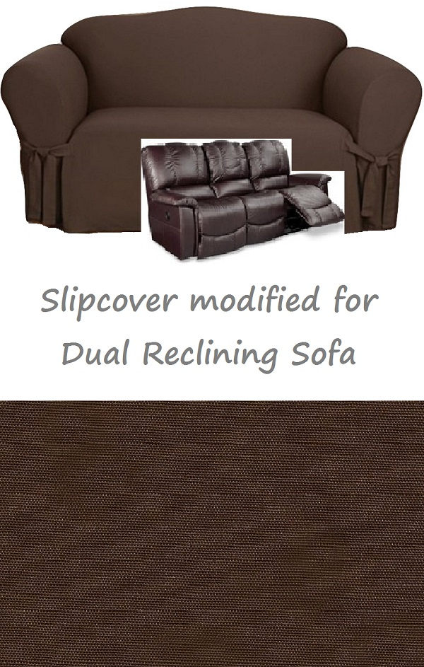 sure fit cotton duck sofa slipcover friheten corner bed skiftebo beige dual reclining chocolate ...