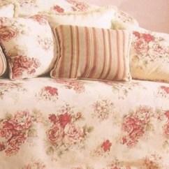Rose Sofa Slipcover Fairmont Dual Reclining T Cushion Waverly Vintage ...