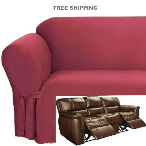 cover for dual reclining sofa harrison john lewis slipcover ribbed texture spice red