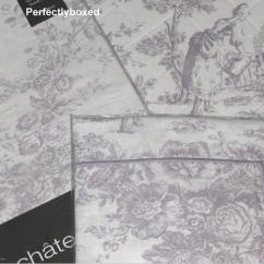 Retro Kitchen Wall Clock Over The Sink Light Toile De Jouy Lilac Duvets Www.perfectlyboxed.com