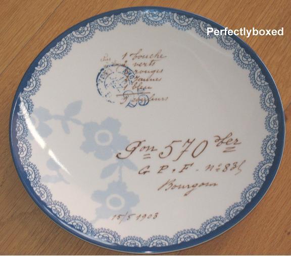 Vintage Floral Blue Plates Wwwperfectlyboxedcom