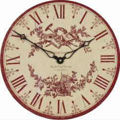 Retro Kitchen Wall Clock Ikea Solid Wood Cabinets Toile De Jouy Clocks Www.perfectlyboxed.com