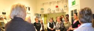 Tammikuun klubitapaaminen oli ihastuttavassa käsityöläistalossa, Kuutostiimissä.