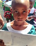 Tansanialainen kummityttömme Zakia Amir.