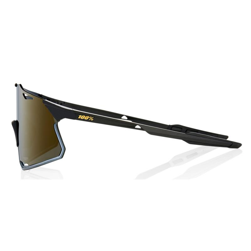Okulary 100% HYPERCRAFT Matte Black - Soft Gold Mirror Lens