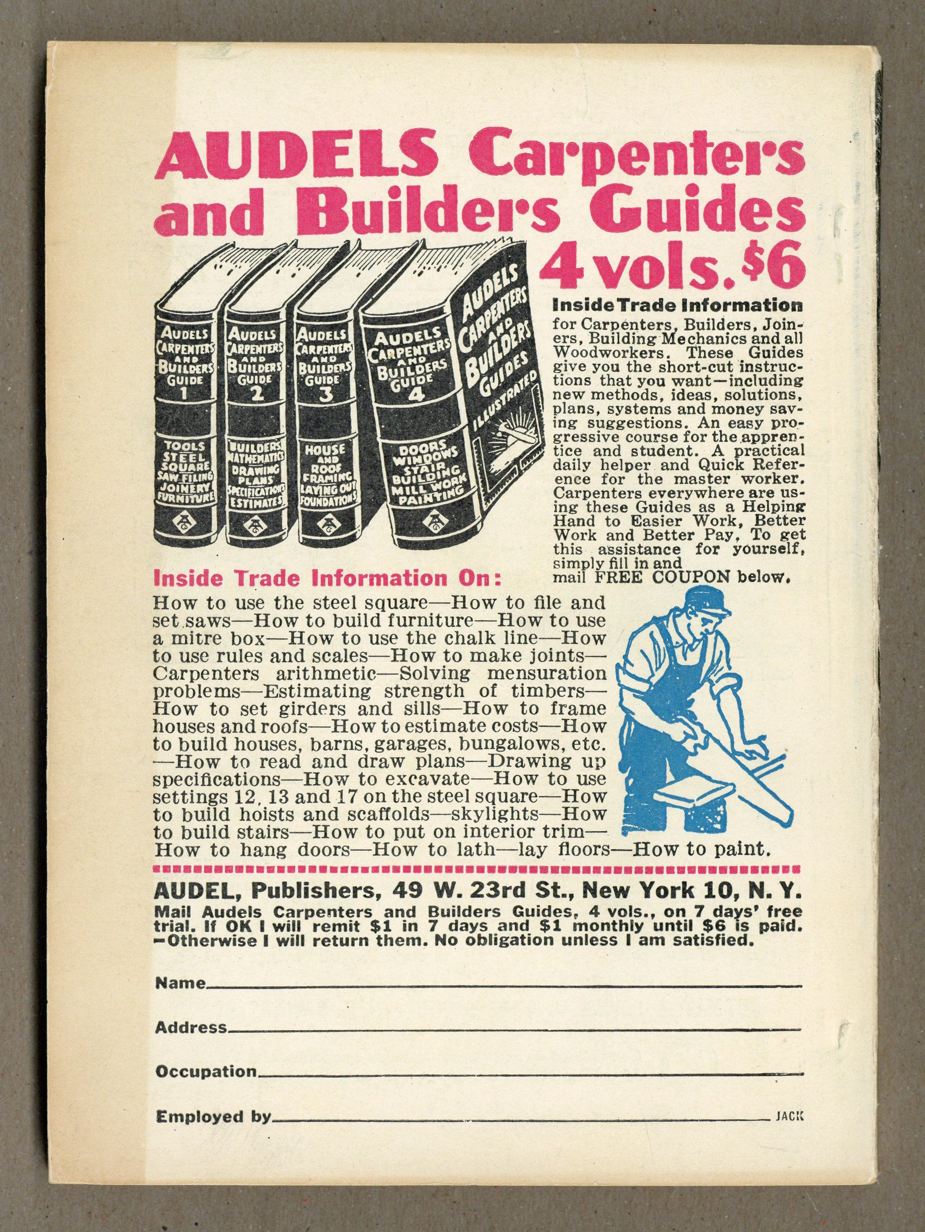 Audels Carpenters And Builders Guide 4