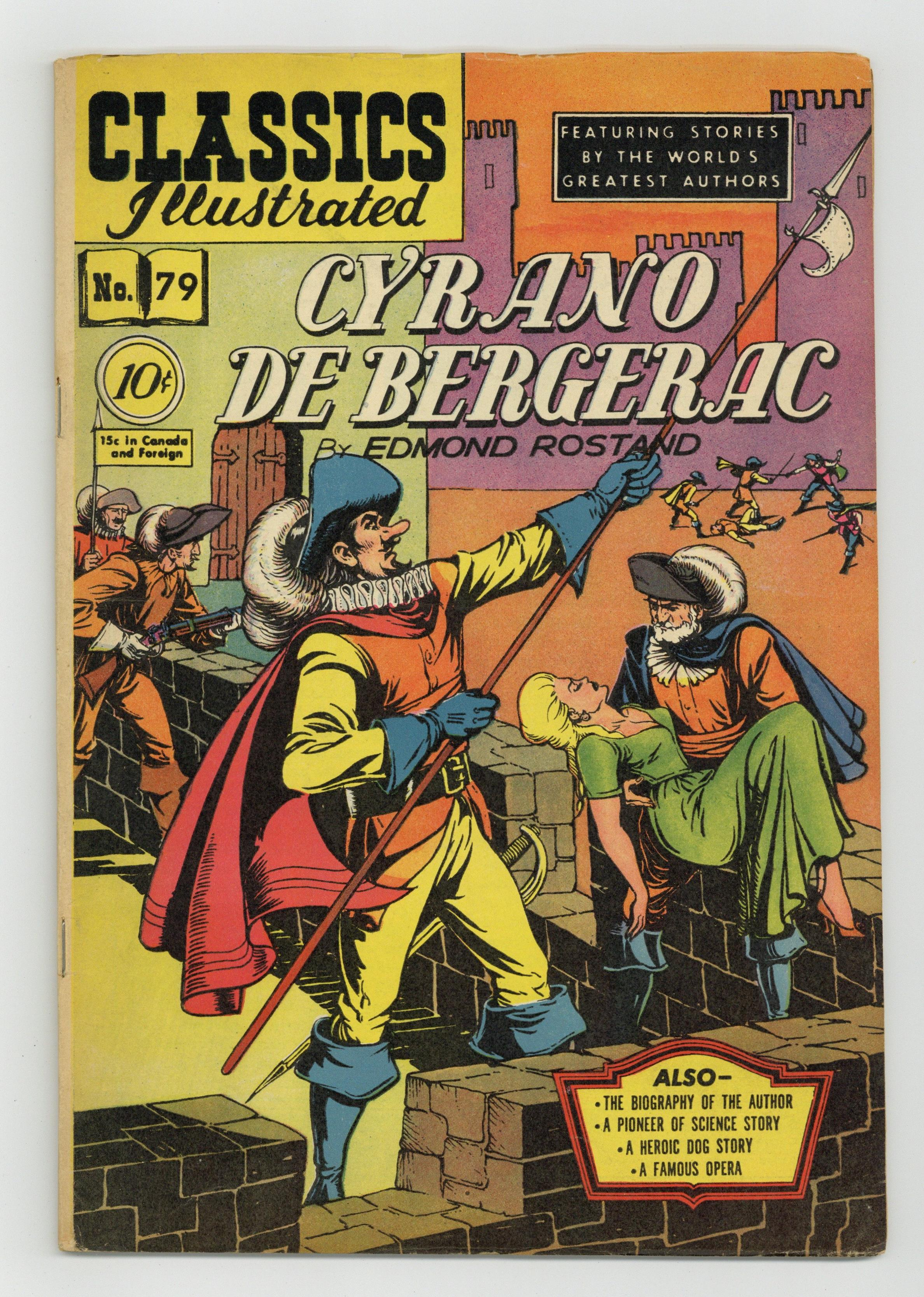 Classics Illustrated 079 Cyrano De Bergerac 1 Vg 4 0