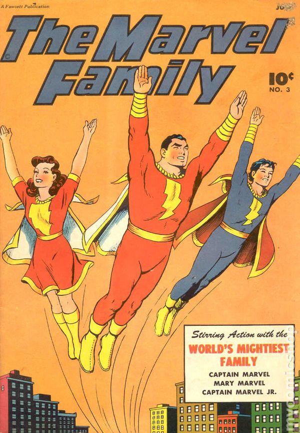 Marvel Family 1945 comic books