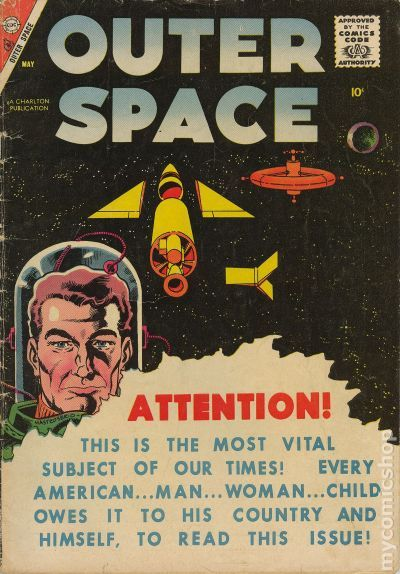 Outer Space Vol 1 1958 Charlton comic books