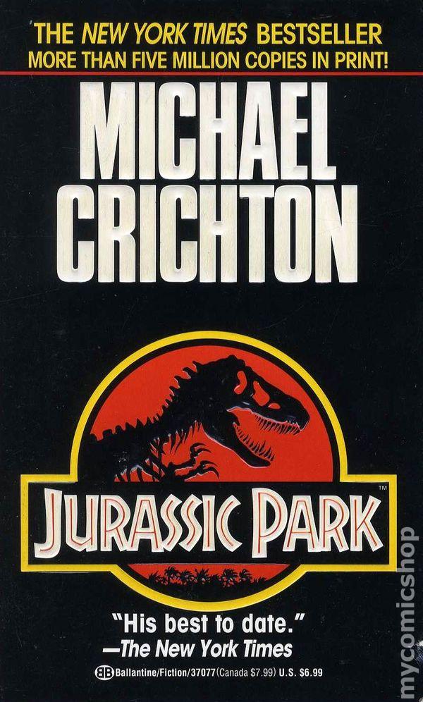 Jurassic Park PB 1991 Novel comic books