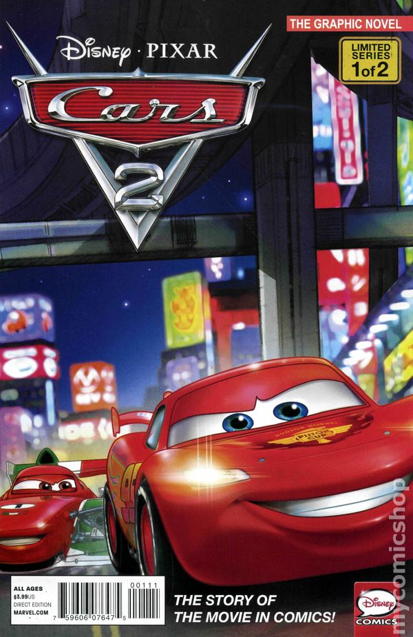 Cars 2 2011 MarvelDisney comic books
