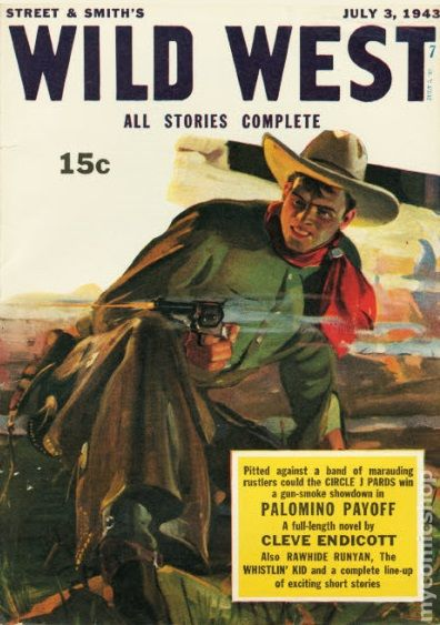 Wild West Weekly 1927 pulp comic books