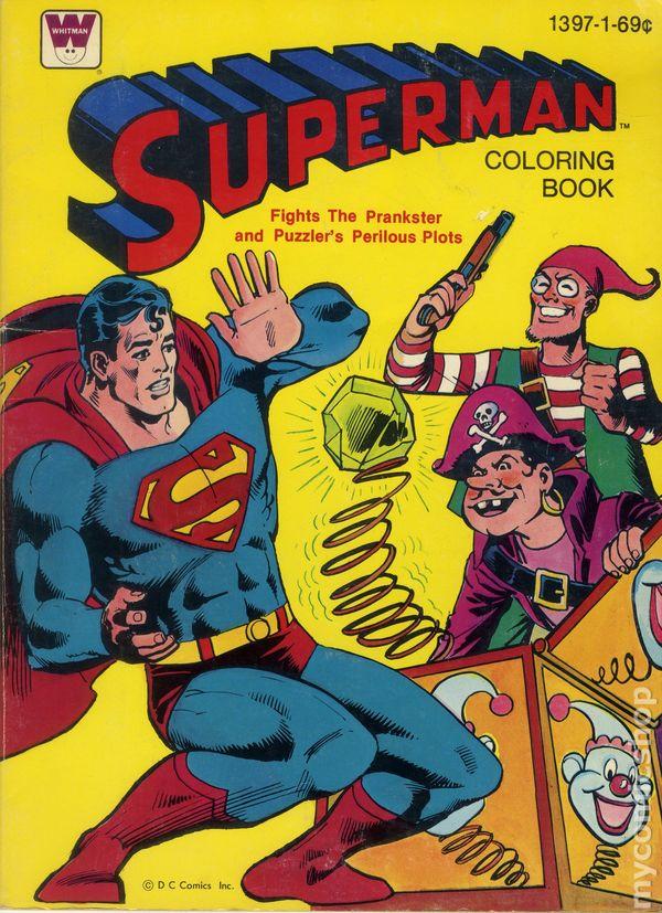 Superman Coloring Book SC 1965 1980 Whitman Comic Books