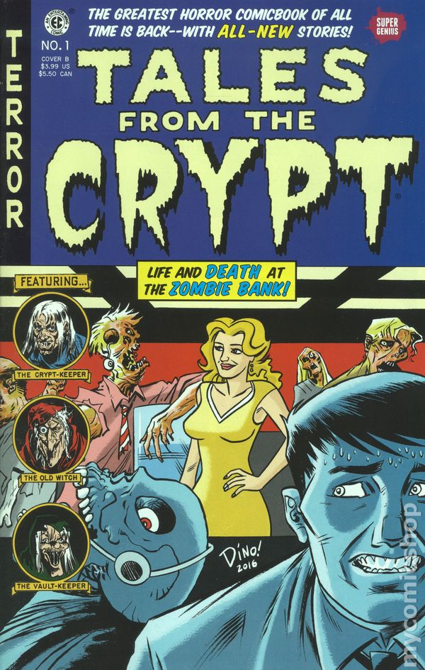 Tales from the Crypt 2016 Super Genius comic books