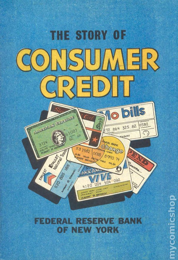 Story of Consumer Credit 1980 comic books
