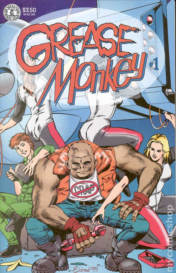 Grease Monkey 1995 Kitchen Sink comic books