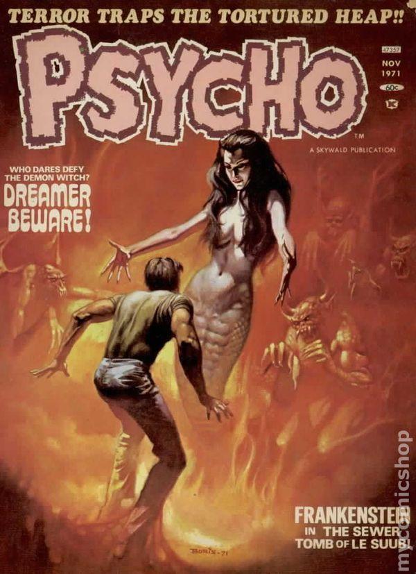 Psycho 1971 Magazine comic books