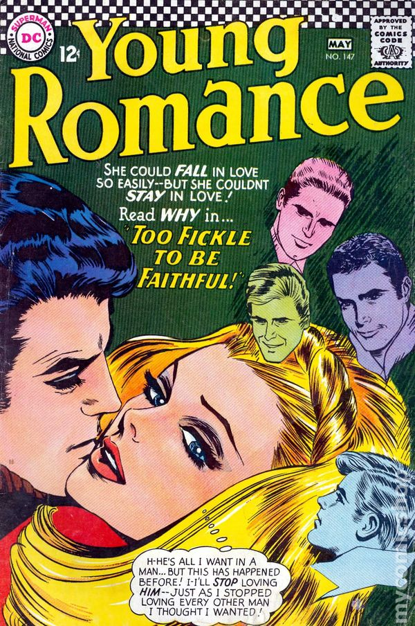 Young Romance Comics 19631975 DC comic books