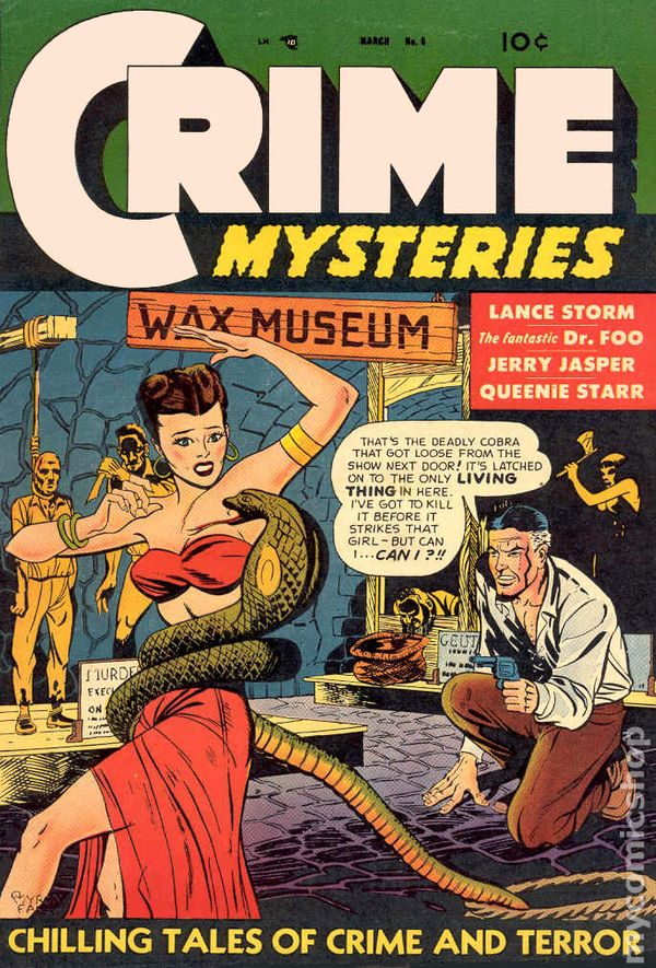 Crime Mysteries 19521954 Trojan Magazines comic books