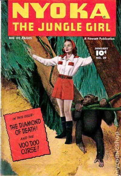 Nyoka the Jungle Girl 1945 Fawcett comic books