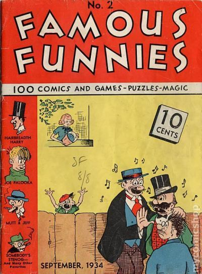 Famous Funnies 1934 comic books