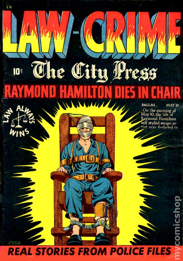 vintage electric chair dining seat replacement law against crime (1948 law-crime) comic books