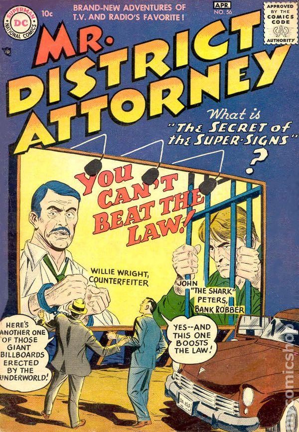 Mr District Attorney 1948 comic books