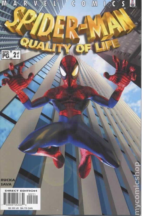 SpiderMan Quality of Life 2002 comic books