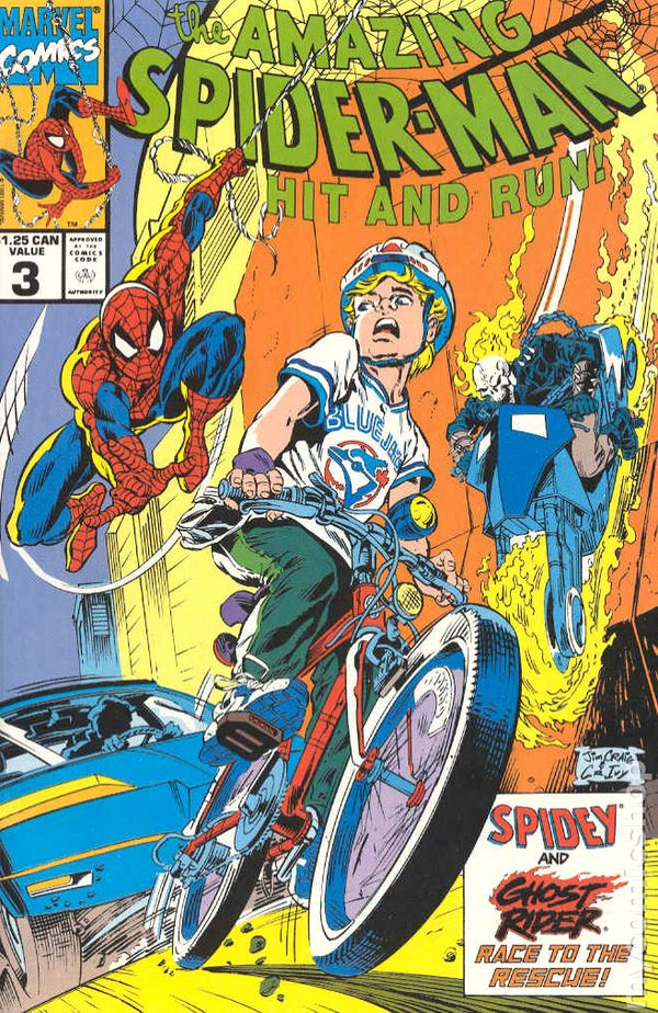 Amazing SpiderMan Hit and Run 1990 Canadian Edition