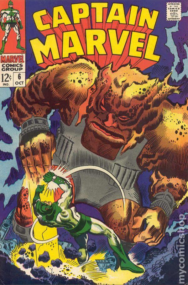 Captain Marvel 1968 1st Series Marvel comic books 19601969