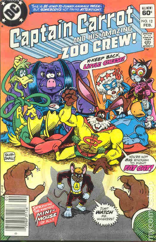 Captain Carrot 1982 comic books