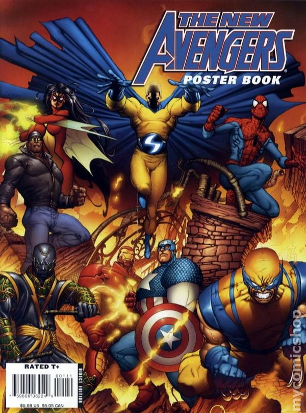 New Avengers Poster Book 2008 Comic Books