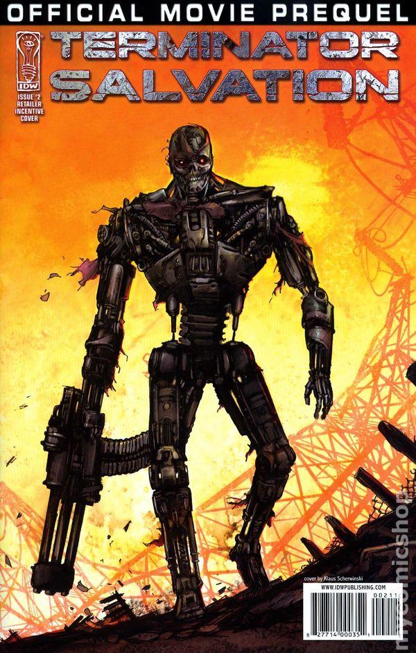 Terminator Salvation Movie Prequel 2009 IDW comic books