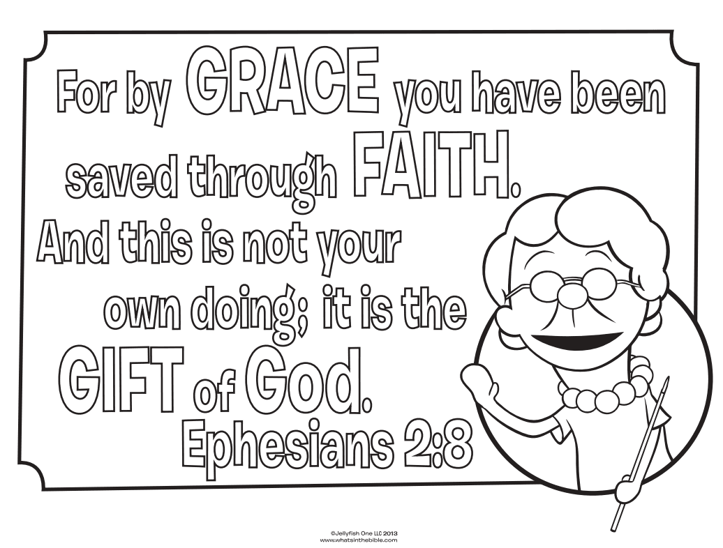 Ephesians 2:8 Coloring Page