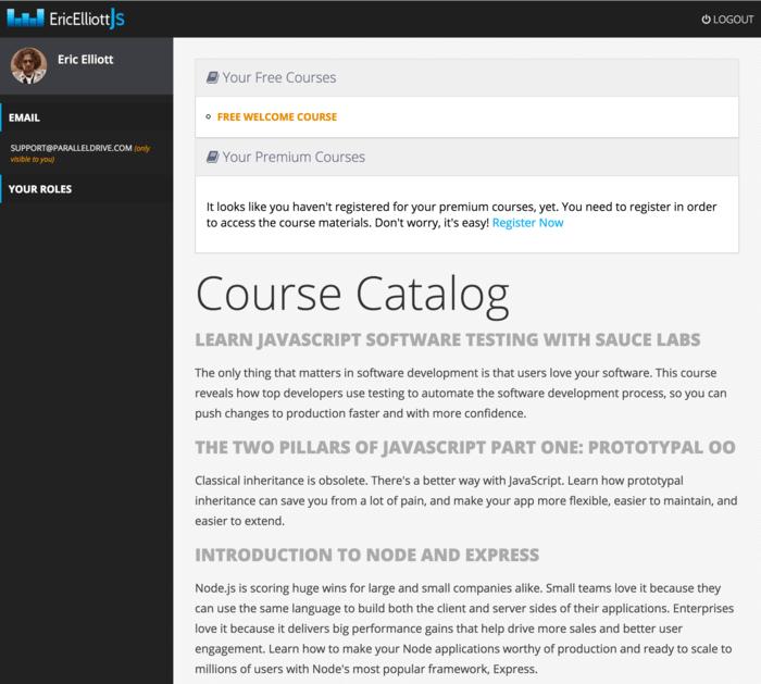 Learn JavaScript with Eric Elliott