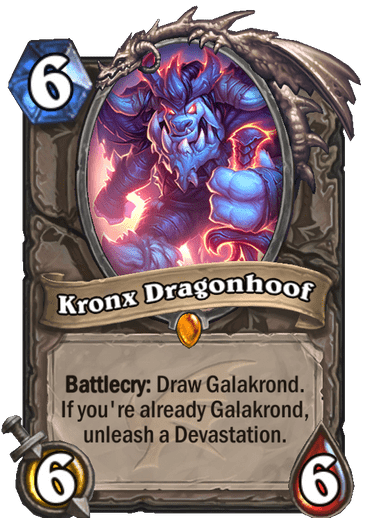 Hearthstone: Descent of Dragons: Kronx Dragonhoof, new Legendary minion revealed