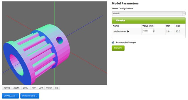 Parametric-Parts-UI