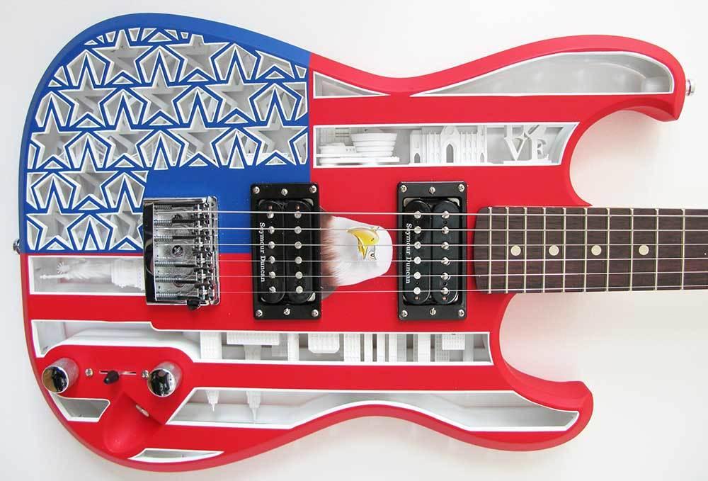 3DPrinted_Guitar_body