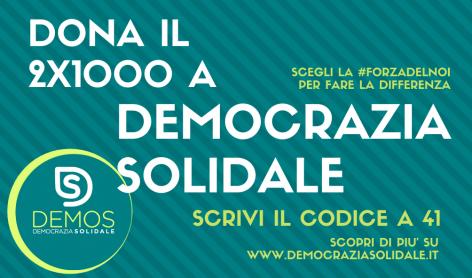 Dona il 2xmille a Democrazia solidale