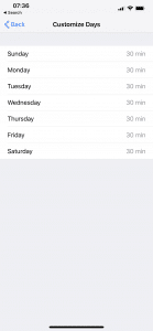 customize daily app limits