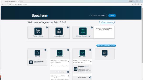 Spectrumnet Managing WiFi Router Settings