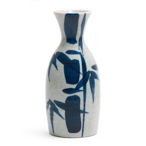 Blue Bamboo Design Authentic Japanese Sake Bottle