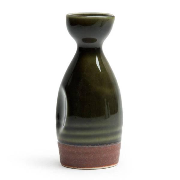 Oribe Green Authentic Japanese Sake Bottle Miya