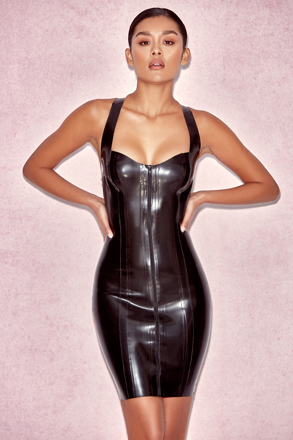 Habillement  Robes bandage  Tahira Robe en latex noir