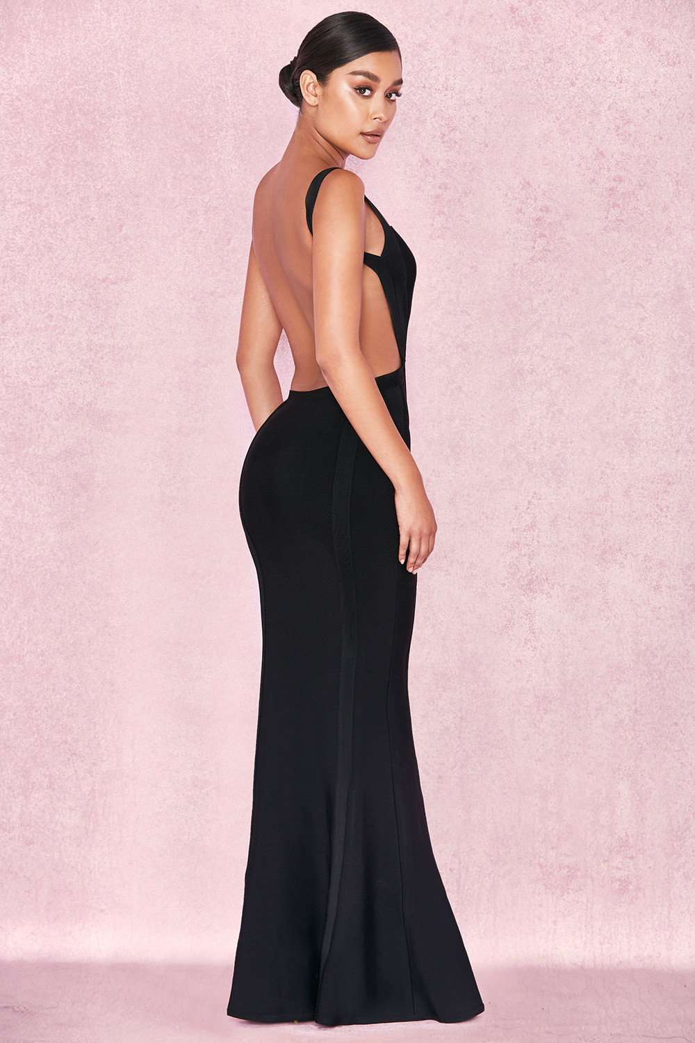 Clothing  Max Dresses  Ophelia Black Backless Maxi Bandage Dress