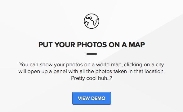Put photos on a map with locations theme